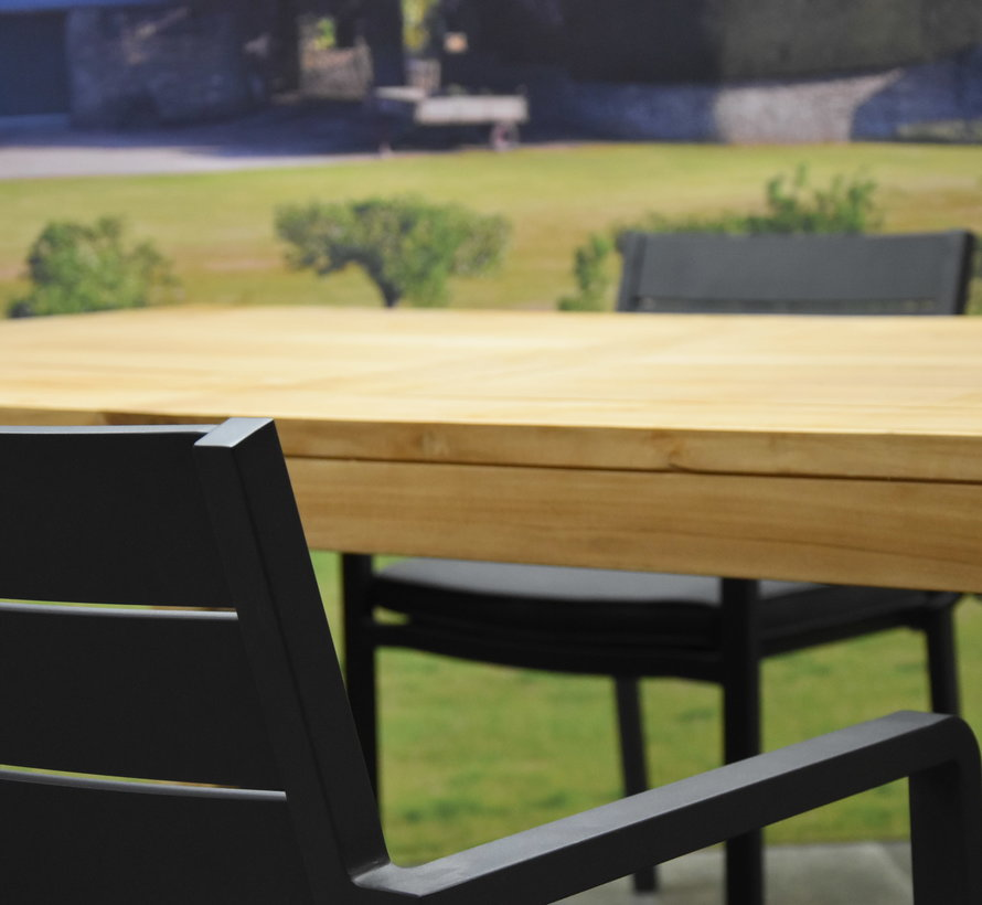 Barolo Krista dining tuinset 180x95xH77 cm 5-delig teak