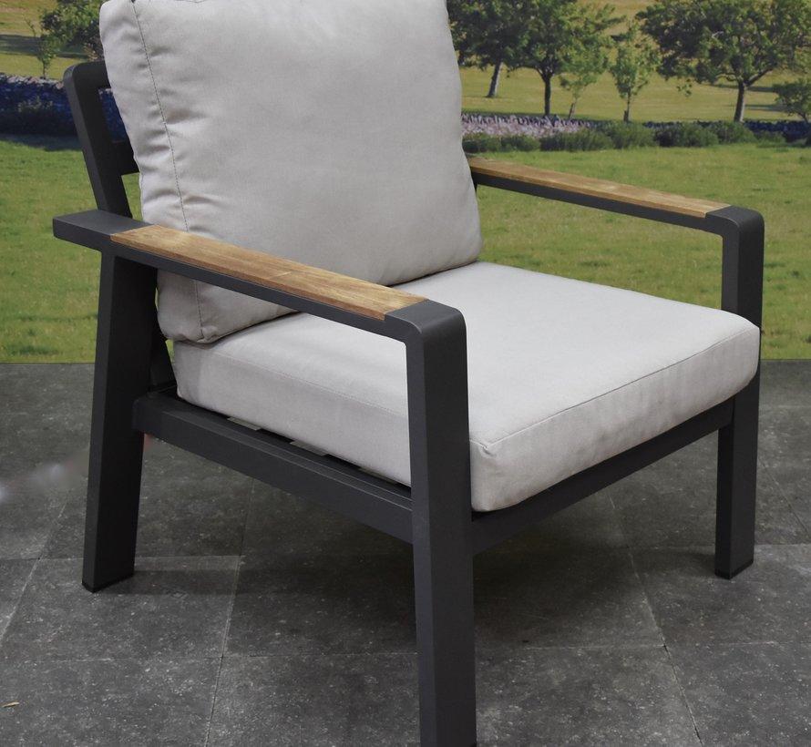 Lola lounge tuinstoel aluminium antraciet