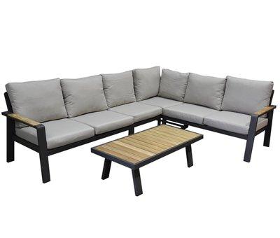 AVH-Collectie Lola hoek loungeset 5-delig aluminium antraciet