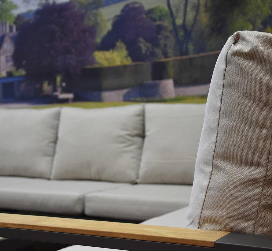 Lola hoek loungeset 5-delig aluminium antraciet