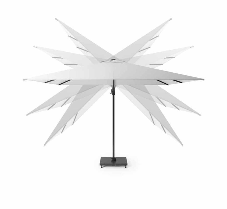 Challenger T2 zweefparasol 350 cm rond taupe
