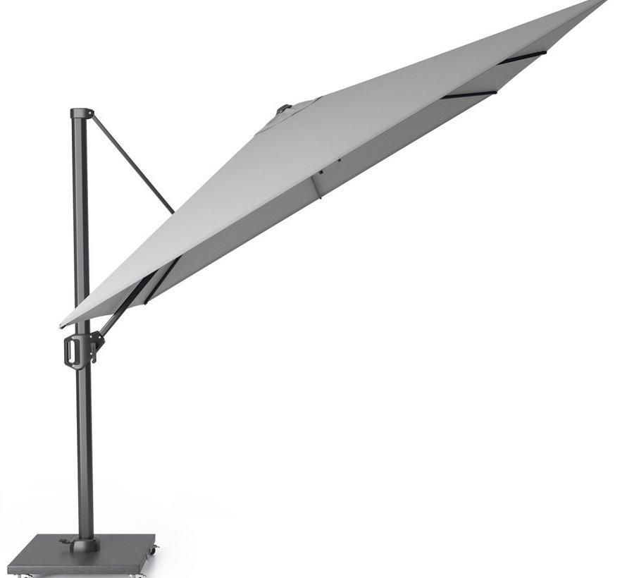 Challenger T2 glow zweefparasol 300x300 cm lichtgrijs