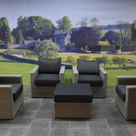 AVH-Collectie Roma stoel loungeset 5-delig - outlet