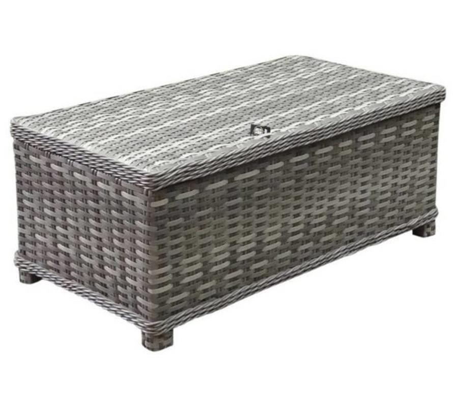 Kreta hoek dining loungeset verstelbaar lage tafel 3-delig grijs links - outlet