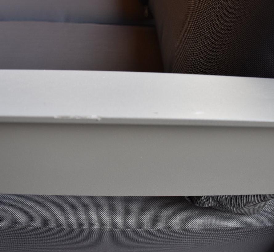 Romero 4-zitsbank antraciet aluminium - outlet