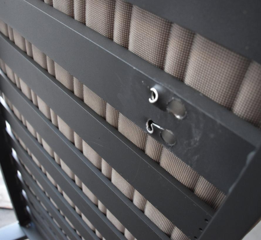 Emoti 3-zitsbank aluminium zwart - outlet