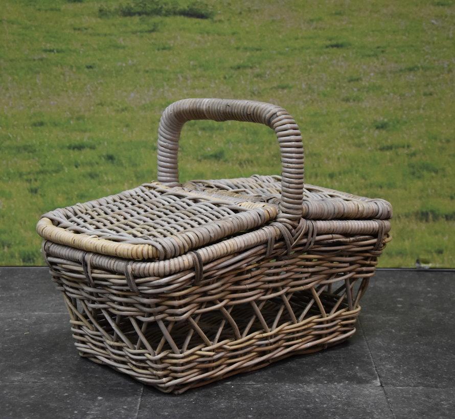 Rotan picknickmand 50x30xH40 cmrechthoekig