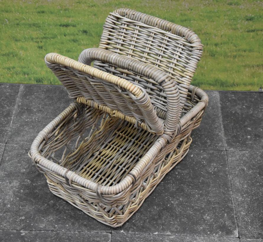 Messie rotan picknickmand 50x30xH40 cmrechthoekig