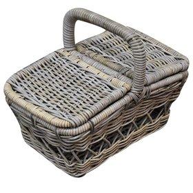 AVH-Collectie Rotan picknickmand 50x30xH40 cmrechthoekig