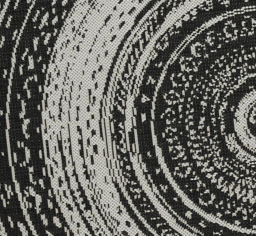 Antique buitenkleed 160 cm rond donker grijs