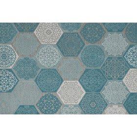 Garden Impressions Hexagon buitenkleed 200x290 cm turquoise