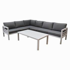 AVH-Collectie Fabri hoek loungeset 5 delig aluminium wit