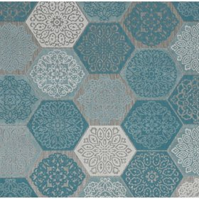 Garden Impressions Hexagon buitenkleed 160x230 cm turquoise