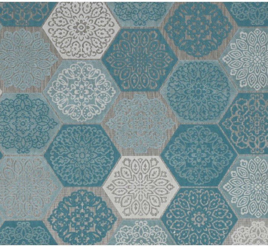 Hexagon buitenkleed 160x230 cm turquoise
