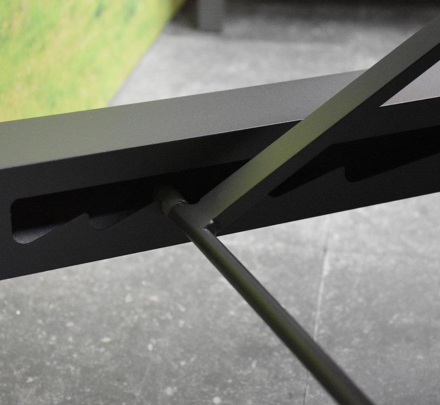 Salvi ligbed aluminium antraciet