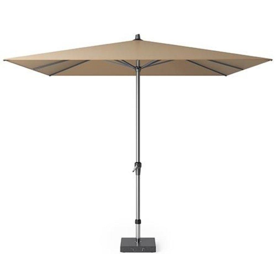 Riva parasol 275x275 cm taupe met kniksysteem