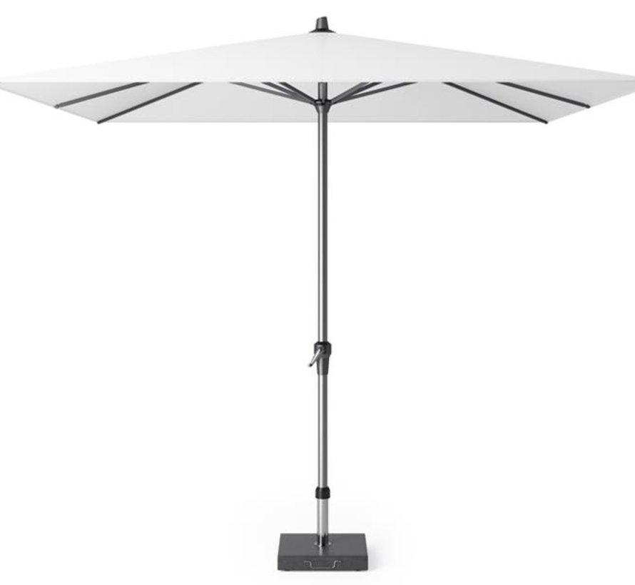 Riva parasol 275x275 cm wit met kniksysteem