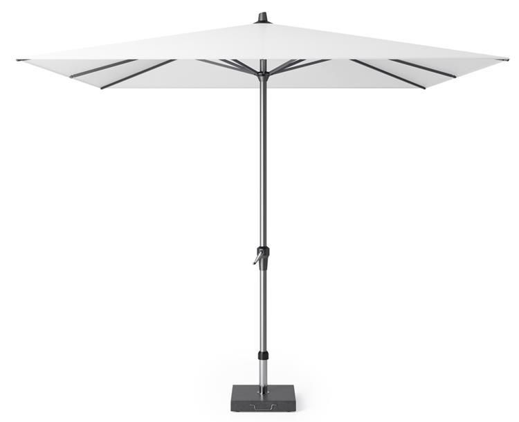 Riva parasol 275x275 cm wit met kniksysteem product foto