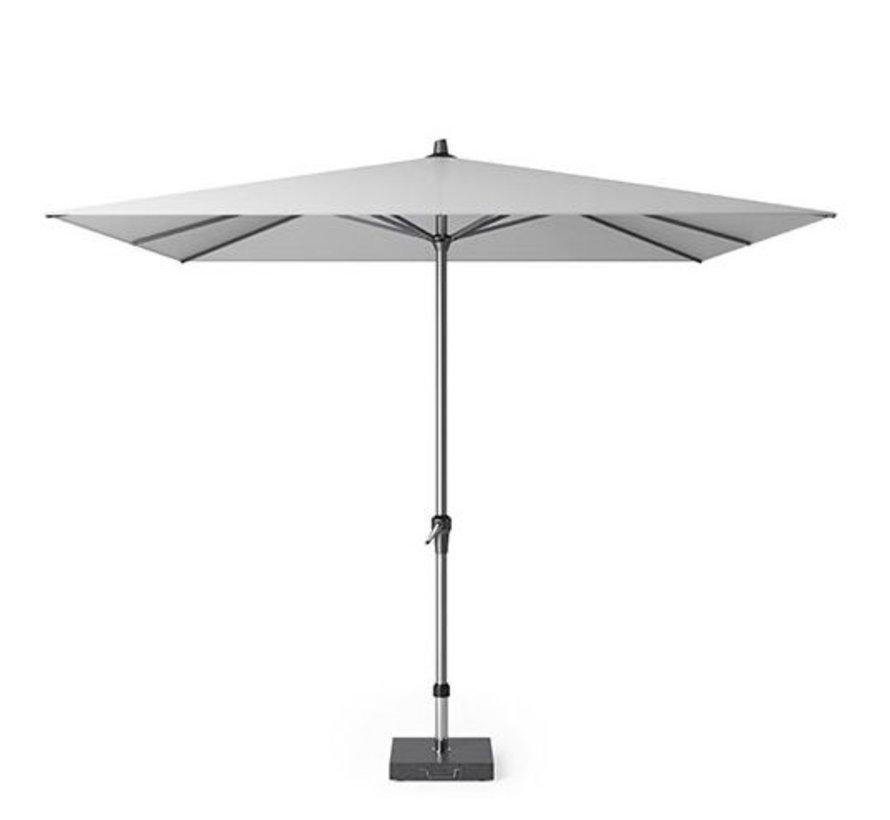 Riva parasol 275x275 cm lichtgrijs met kniksysteem