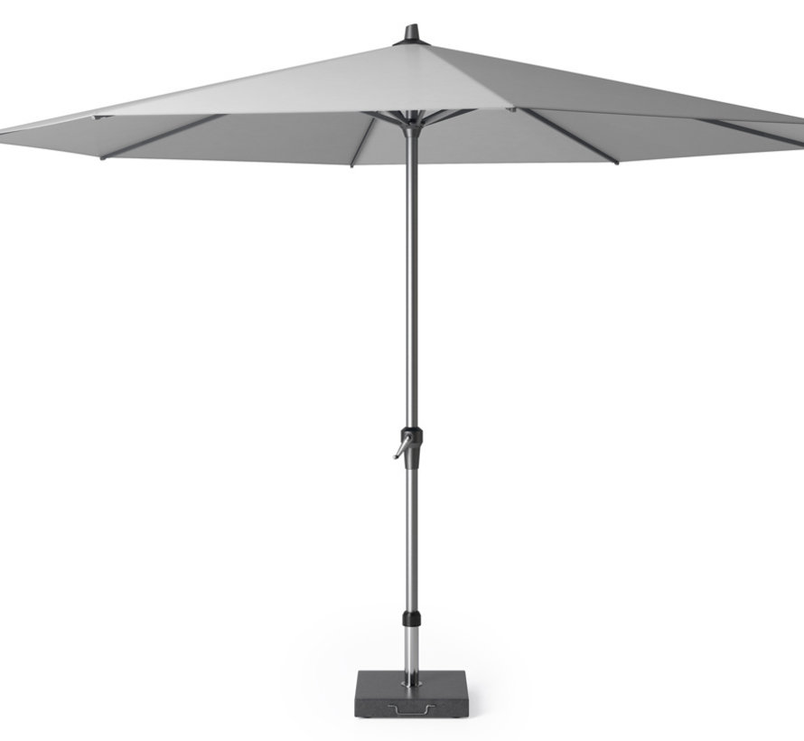 Riva parasol 350 cm rond lichtgrijs