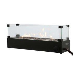 Cosi Fires Cosi tafelbrander rechthoek zwart incl. glas
