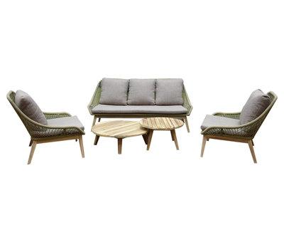 AVH-Collectie Danao stoel bank loungeset 5-delig acacia rope