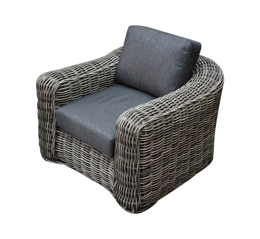 Las Palmas stoel bank loungeset 4-delig bruin