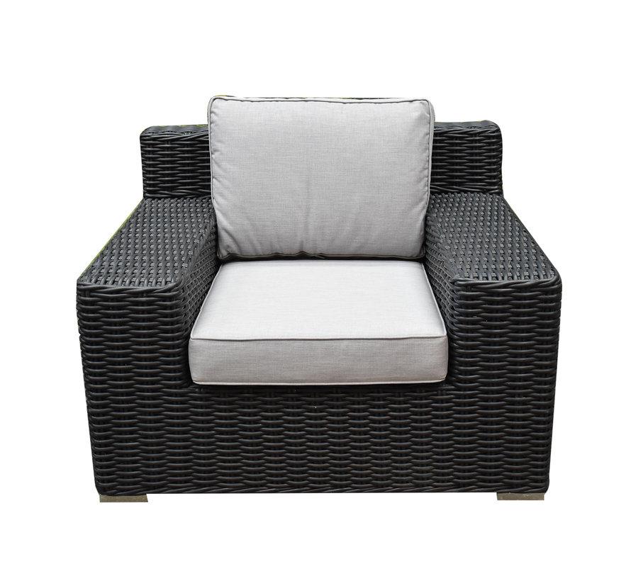 Manjavico stoel bank loungeset 4-delig antraciet