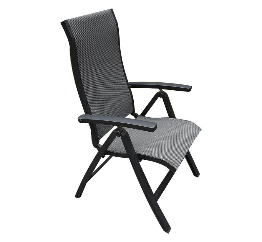 Milano standenstoel verstelbaar aluminium antraciet