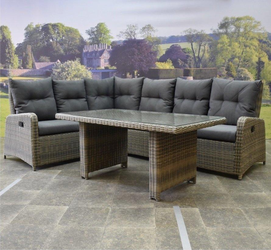 Florence lounge-diningset 3-delig verstelbaar