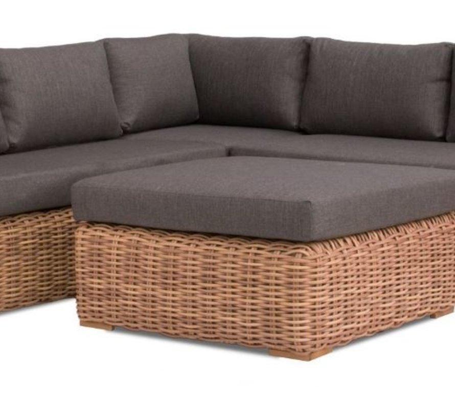 Cervo hoek loungeset 4-delig bruin