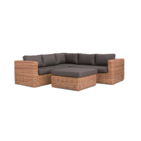 AVH-Collectie Cervo hoek loungeset 4-delig bruin