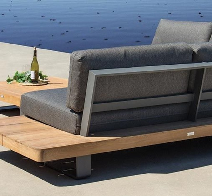 New York hoek loungeset 4-delig teak