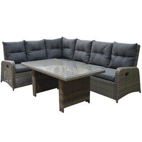 AVH-Collectie Florence lounge-diningset 3-delig verstelbaar