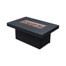 EasyFires Vuurtafel Milano 120x80xH53 cm zwart - zwart