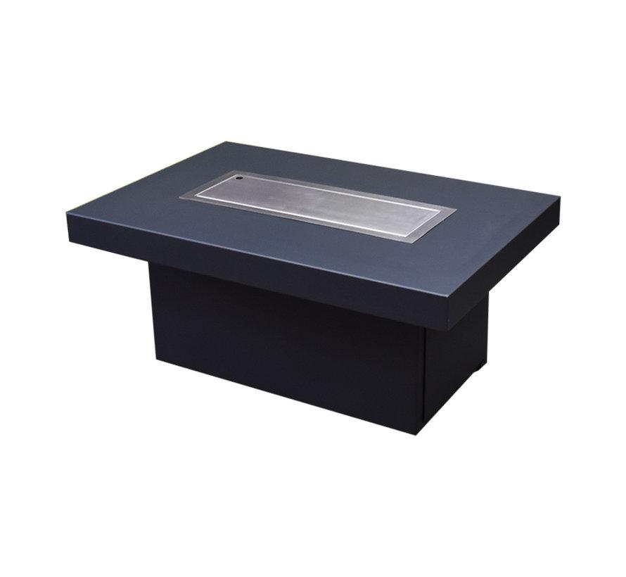 Vuurtafel Milano 120x80xH53 cm zwart - zwart