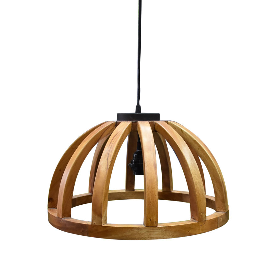 Stella hanglamp halve cirkel hout