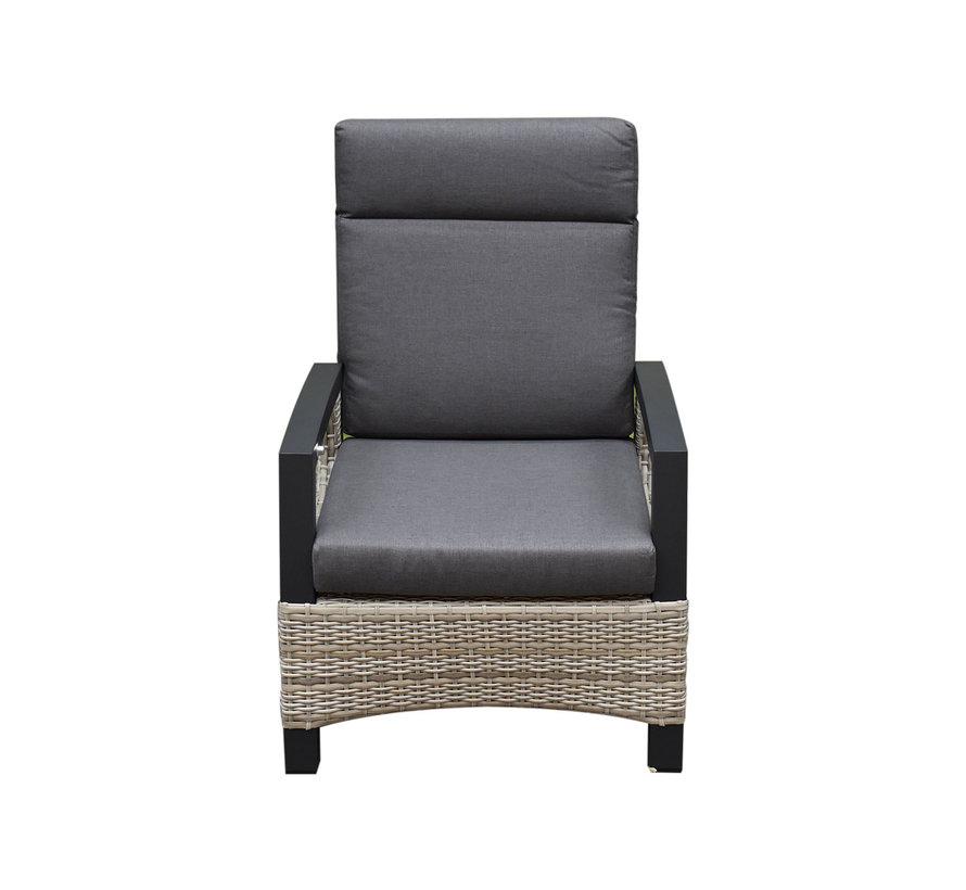 Dallas stoel-bank loungeset 4-delig