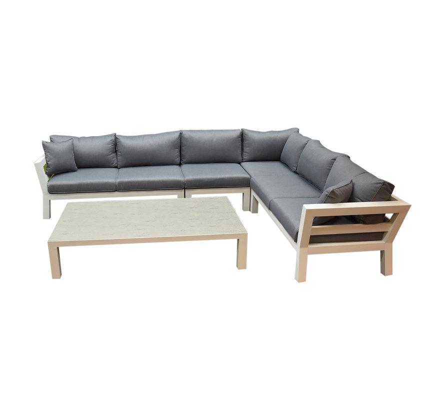 Suns Malmo hoek loungeset 5-delig aluminium wit