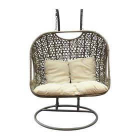 AVH-Collectie Arola hangstoel - 2 persoons licht bruin