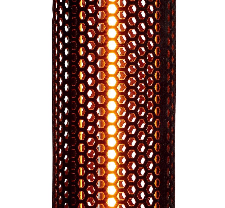 Elektrische terrasverwarmer infrarood TBH zwart - 800 W