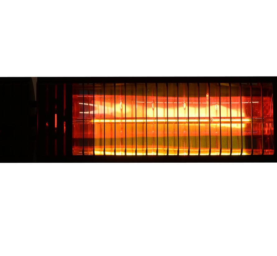 Elektrische infrarood terrasverwarmer Iras zwart - 2000 W