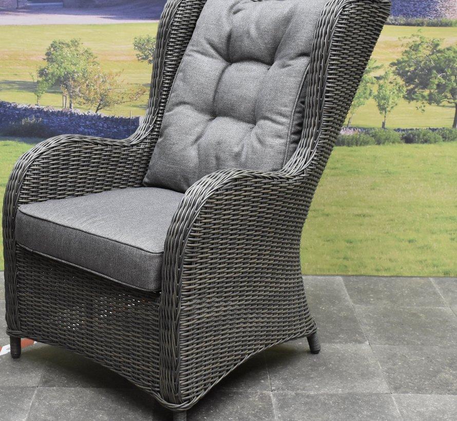 Arezza premium lounge tuinstoel antraciet