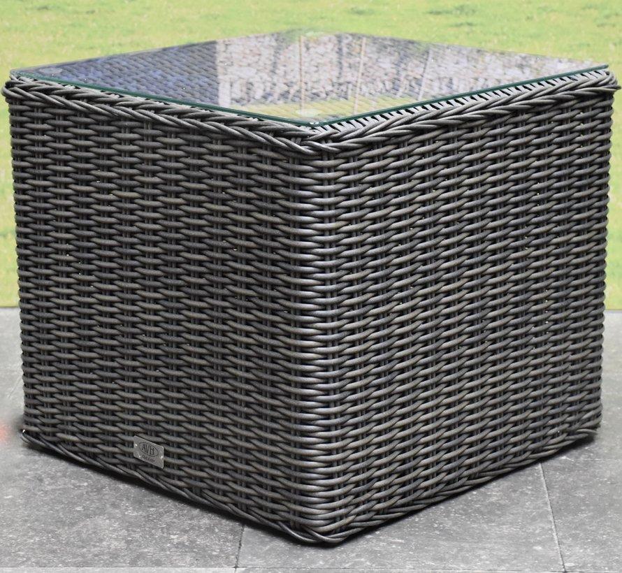 Toscane premium bijzettafel 50x50xH45 cm antraciet