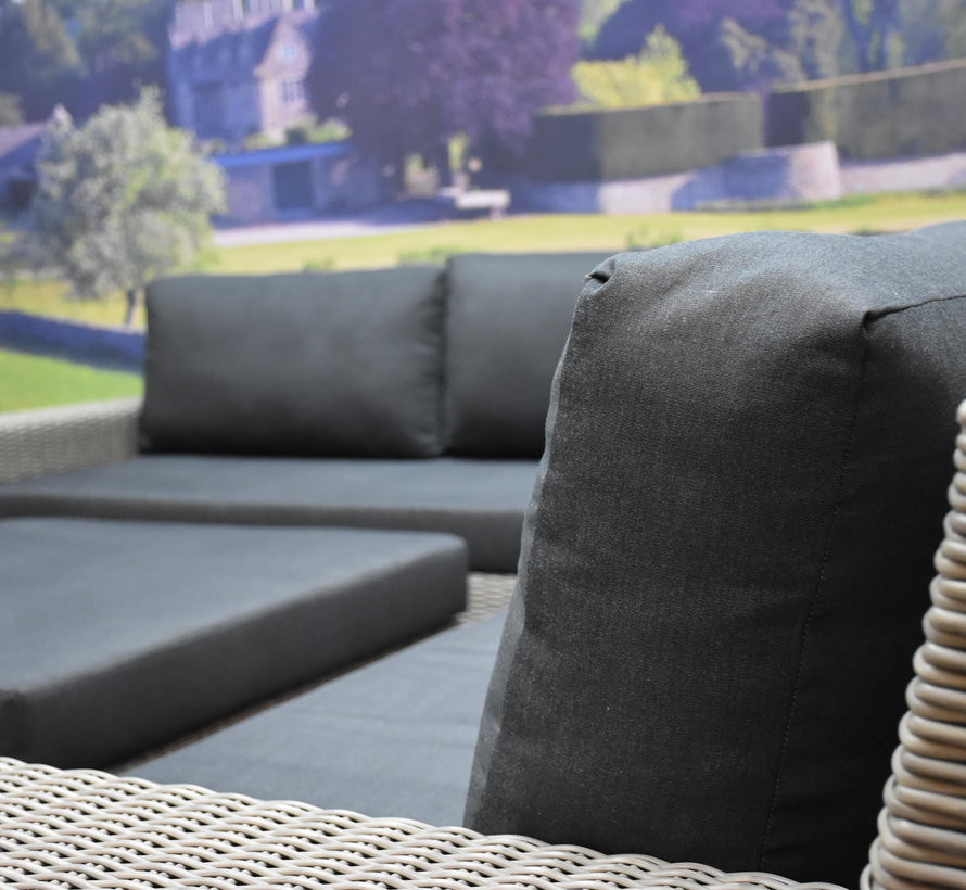 Riga hoek loungeset 4-delig grijs