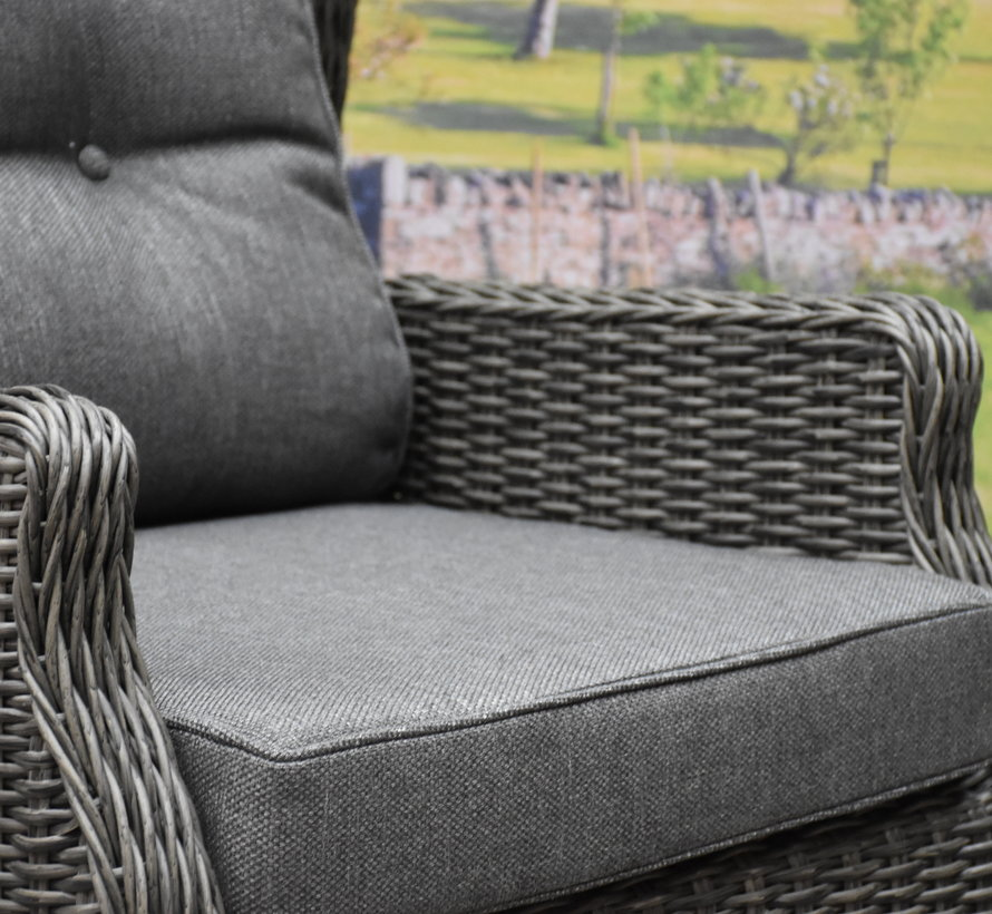 Ibiza premium lounge tuinstoel verstelbaar antraciet