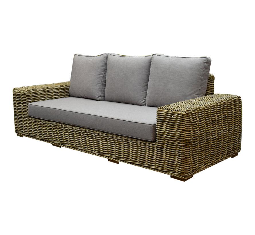 Otava stoel-bank loungeset 4-delig naturel rotan
