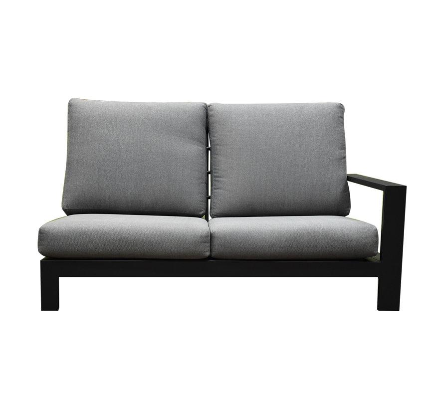 Athene hoek loungeset 4-delig antraciet aluminium