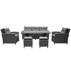 AVH-Collectie San Diego stoel-bank dining loungeset 4-delig – Sunproof all weather