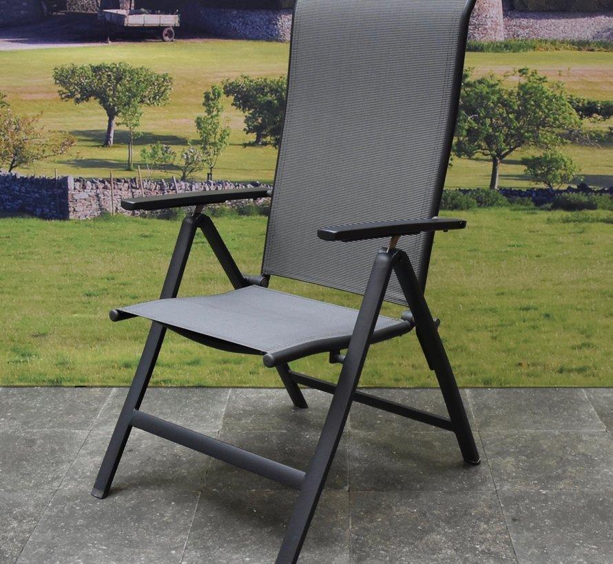 Vigo standenstoel verstelbaar aluminium antraciet